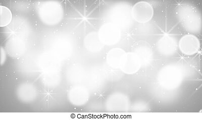 white bokeh lights particles and stars loop