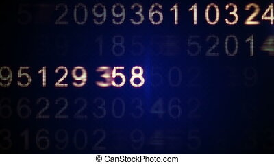 scanning numbers loop background - scanning numbers computer...