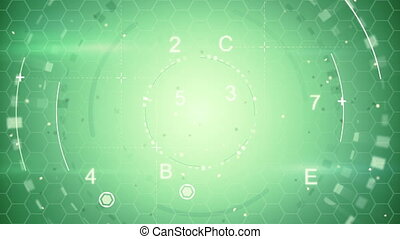 green abstract techno loopable background - green abstract...
