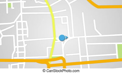 street map GPS navigator seamless loop