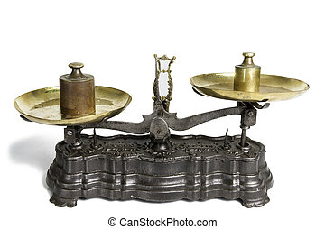 Old Scale With Weight Measures - Old Scale Whit Weight...