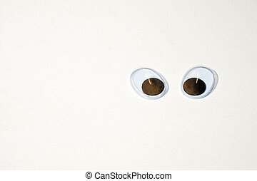 Looking into the world with big eyes - two movable plastic...