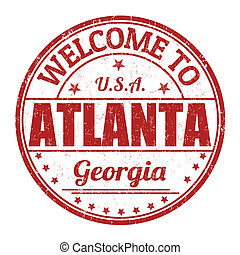 Welcome to Atlanta stamp - Welcome to Atlanta grunge rubber...