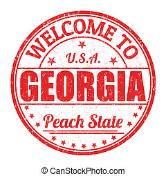 Welcome to Georgia stamp - Welcome to Georgia grunge rubber...