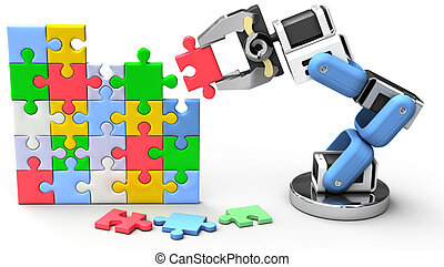 Robotic puzzle problem solution