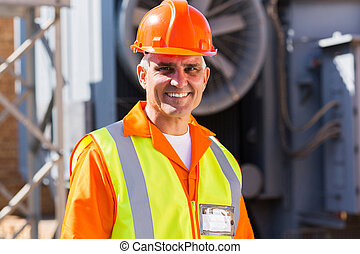 mid age male electrician