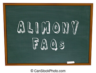 Alimony FAQs Frequently Asked Legal Questions Chalkboard -...