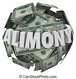 Alimony Word 3d Money Ball Financial Obligation Ex Spousal...