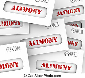 Alimony Envelopes Payments Spousal Support Legal Obligation...