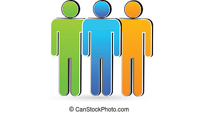 Friends in business.Teamwork symbol vector icon