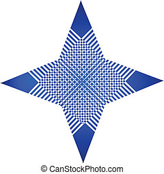 Abstrat blue graphic app logo - Abstrat blue star graphic...