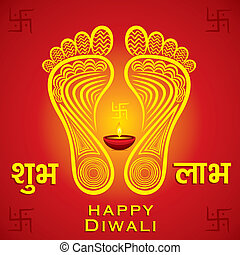happy diwali or navratri festival greeting card background...