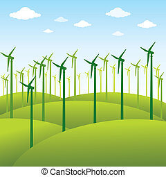 windmill or green energy background - windmill or green...