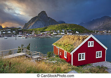Reine, Norway - Image of fishing village Reine on Lofoten...