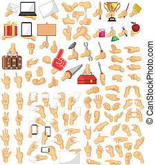 Hand Sign Collection - A vector set of hand sign in many...
