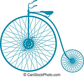 Silhouette of vintage bicycle