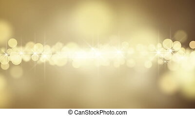 gold circle bokeh lights loop background