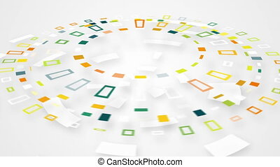 colorful circular segments rotating loop - colorful circular...
