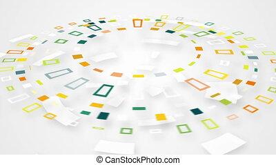 colorful circular segments rotating loop - colorful circular...