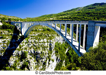Pont de lArtuby, Verdon Gorge, Provence, France