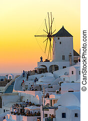 Amazing Sunset in Oia in Santorini, Greece - Amazing sunset...