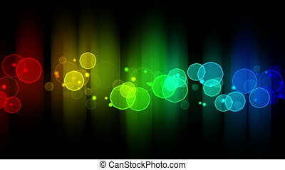 colorful glowing bokeh lights loop background - colorful...