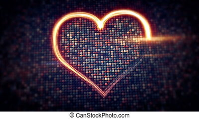 light streaks heart shape loopable
