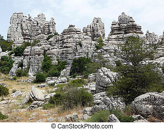 El Torcal mountain in Andaluc
