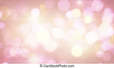 light-coloured pink yellow circle bokeh lights loop...