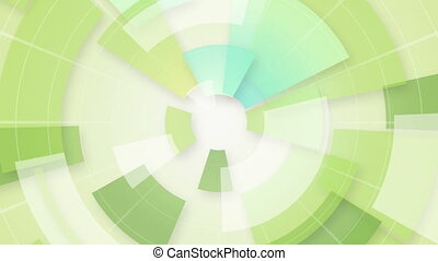 green circular segments loop background