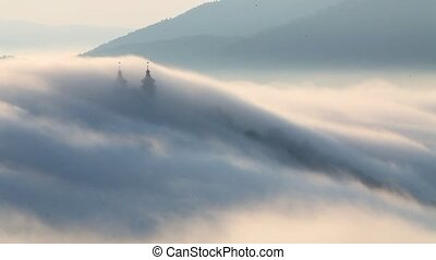 Clouds over calvary - Slovakia landscape