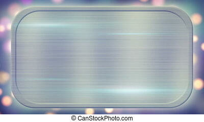 metal plate and lights on background loopable - metal plate...