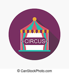 circus flat icon with long shadow