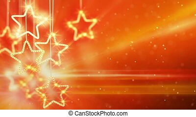 orange hanging stars loop background - orange hanging stars...