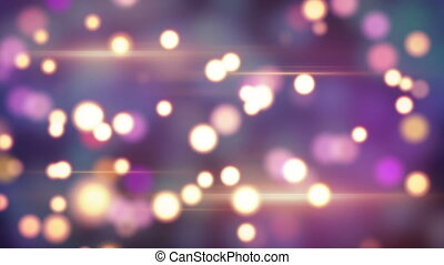 shiny circle bokeh lights loop background