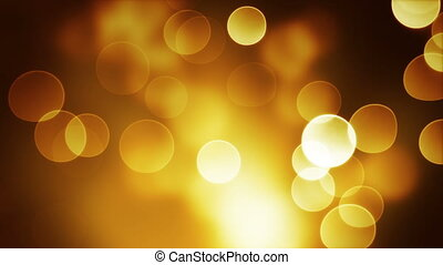 orange bokeh lights loop background