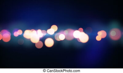 trail of circle lights loopable background - trail of circle...