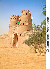Jahili fort - Famous Jahili fort in Al Ain oasis, United...