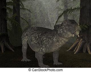 Lystrosaurus- 3D Dinosaur - 3d render of a lystrosaurus-...
