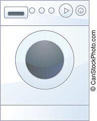 Washing machine - vector illustration of isolated washing...