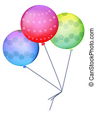ballon - three color ballons on the white background