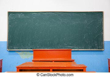 Blackboard in classroom