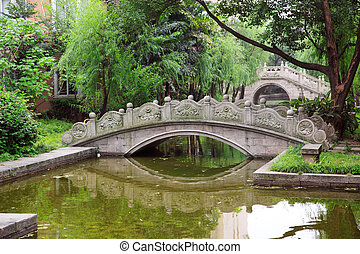 Chinese arched Bridge - Chinese old style arched bridges in...