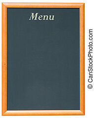 Blackboard Menu - A Blank Blackboard Menu for a Restaurant