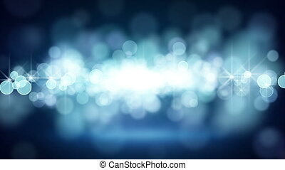 blue circle bokeh lights loop background