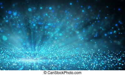 field of sparkling shiny particles loop - field of sparkling...