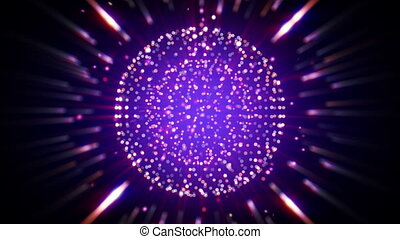 sparkling shiny ball seamless loop background