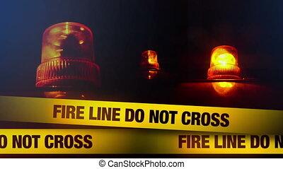 Fire line do not cross