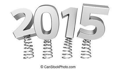 Flexible 2015 - Metal digits 2015 jumping on springs
