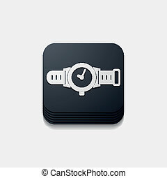 square button: watch